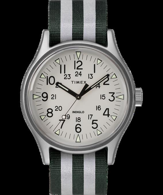 MK1 Aluminum 40mm Reflective Nylon Strap Watch Black large