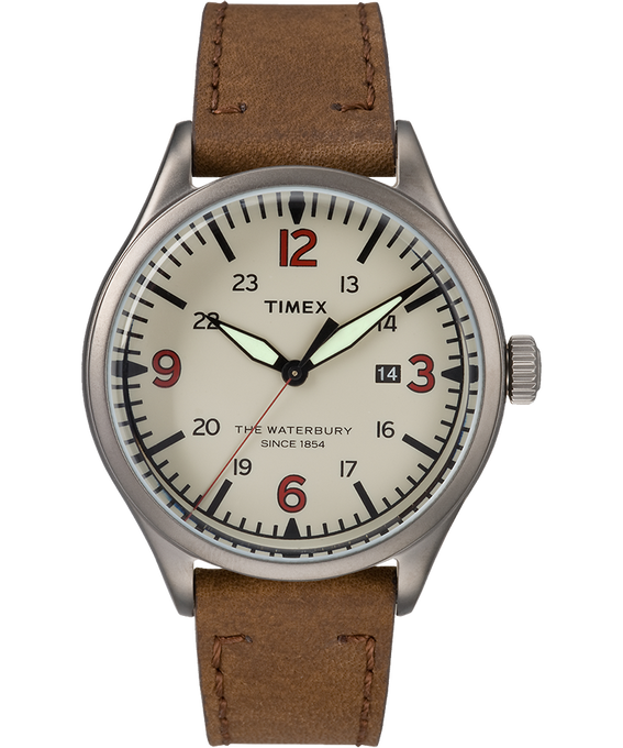 Waterbury Traditional 40mm Leather Watch