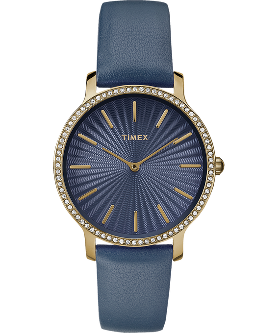 Metropolitan Starlight 34mm Leather Watch Gold-Tone/Blue large