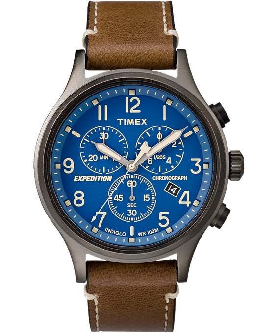 Expedition Scout Chronograph 42mm Leather Watch