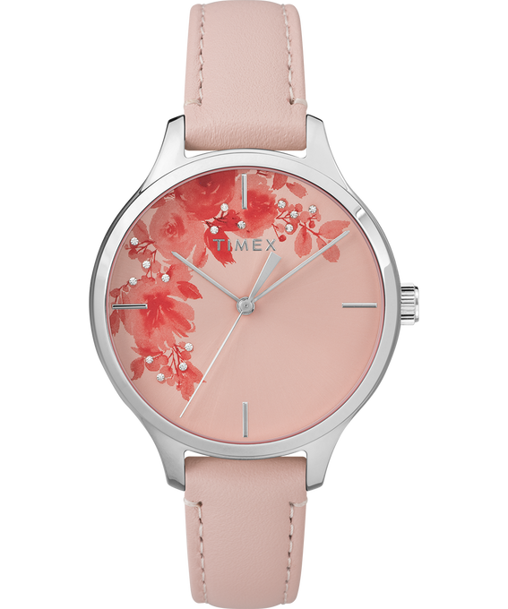 Crystal Bloom with Swarovski Elements 36mm Leather Watch