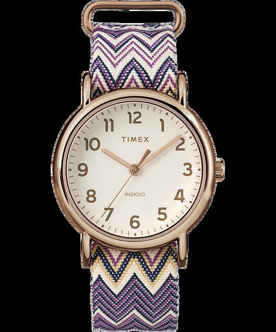 Weekender Chevron 38mm Fabric Strap Watch