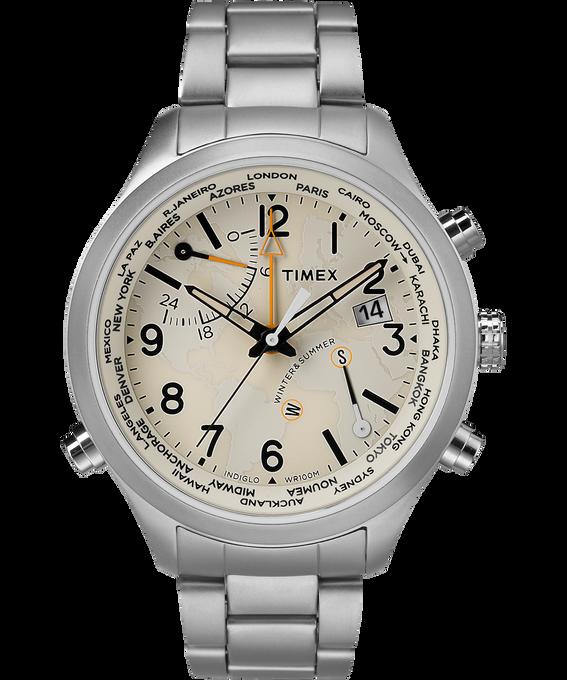 Waterbury World Time 43mm Stainless Steel Watch