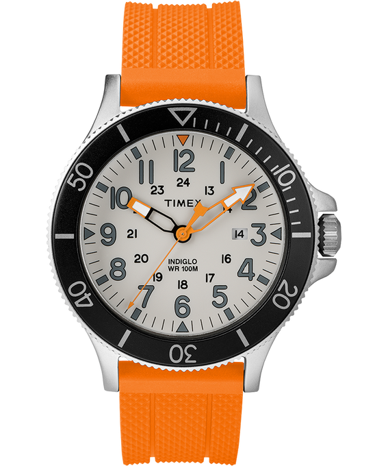 Allied Coastline 43mm Silicone Strap Watch