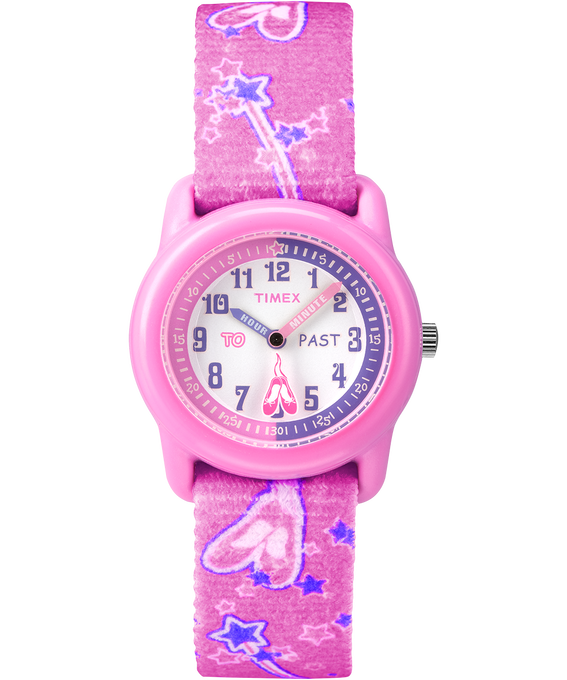 Girls Kids Analog 29mm Elastic Fabric Watch