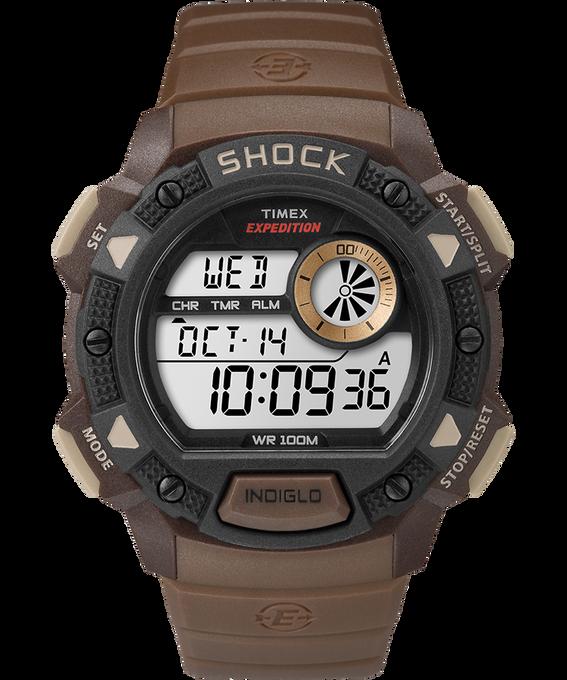 Expedition Base Shock Gauge 45mm Resin Strap Watch Brown/Black large