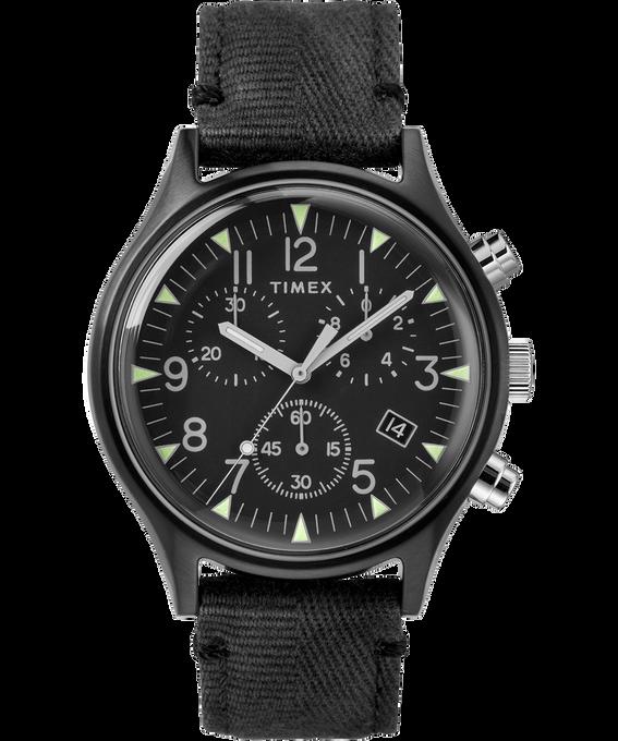 MK1 Chronograph Steel 42mm Fabric Strap Watch Black large