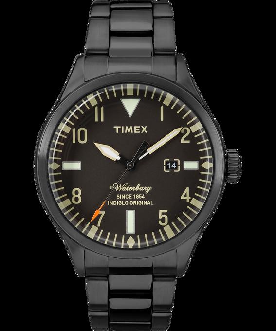 Waterbury Traditional 3 Hand 40mm Stainless Steel Watch Black large