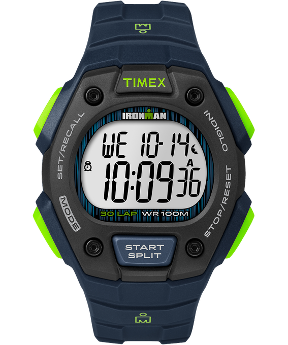 IRONMAN Classic 30 Full-Size 42mm Resin Strap Watch Blue/Green/Black large