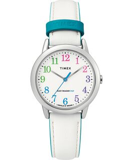 Easy Reader Color Pop 30mm Leather Watch Womens Silver-Tone/White large