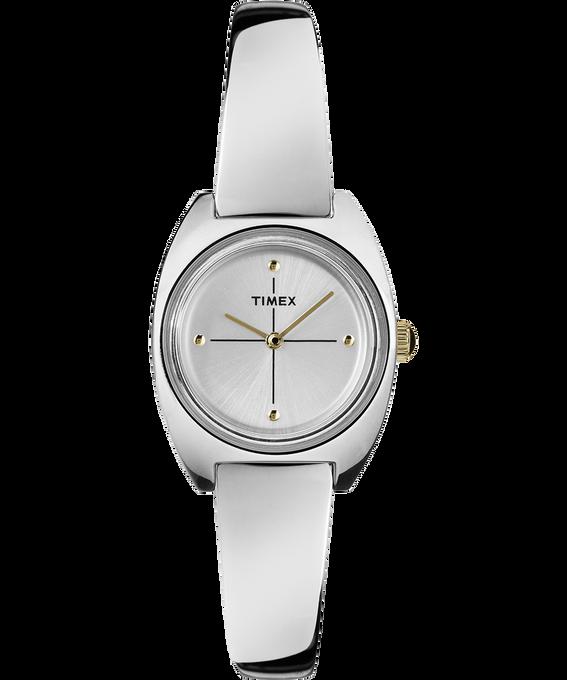 Milano 24mm Semi-Bangle Watch Silver-Tone/White large