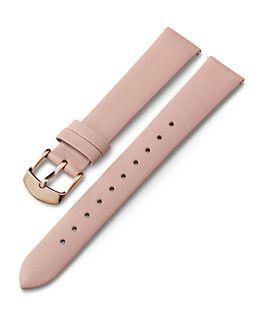 Cinturino in pelle da 16 mm con fibbia tonalità oro rosa Rosa large