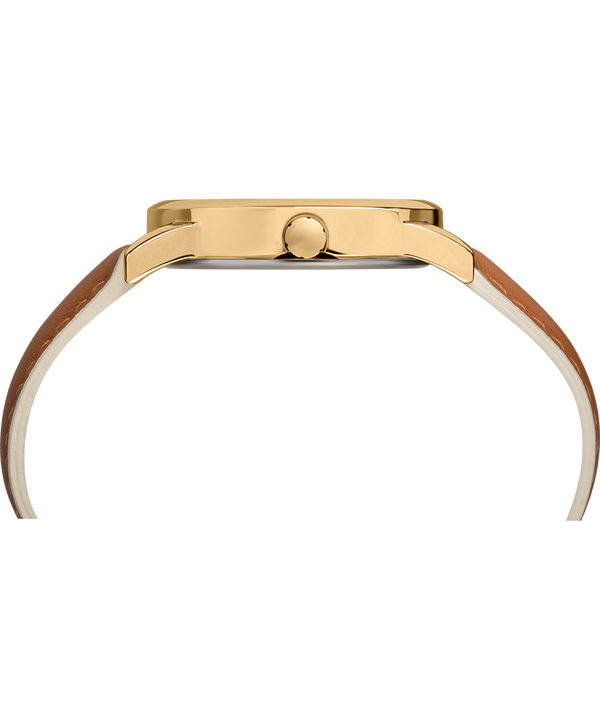 Easy Reader Color Pop 38 mm con cinturino in pelle Gold-Tone/Tan/Cream large