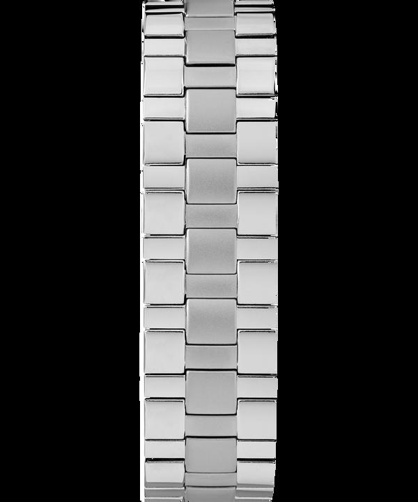 Easy Reader Date 38mm con cinturino a molla Chrome/Silver-Tone/White large