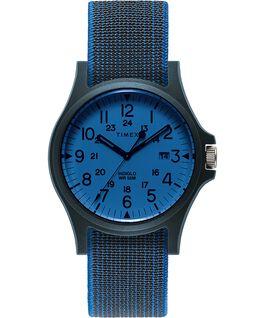 Orologio Acadia 40 mm con cinturino in tessuto elastico Blu/Nero large
