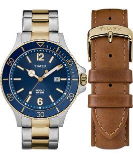 Set da regalo Harborside 43 mm con bracciale e cinturino extra Bicolore/Blu large