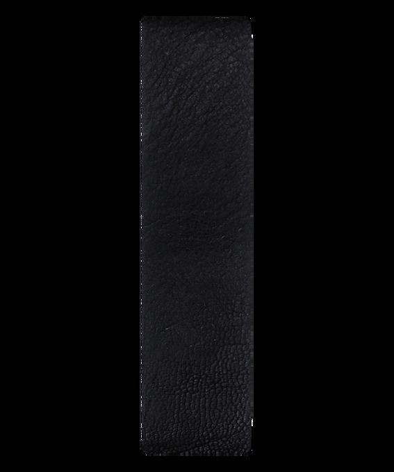 Cinturino scorrevole in pelle con estremità nera/bronzo  large