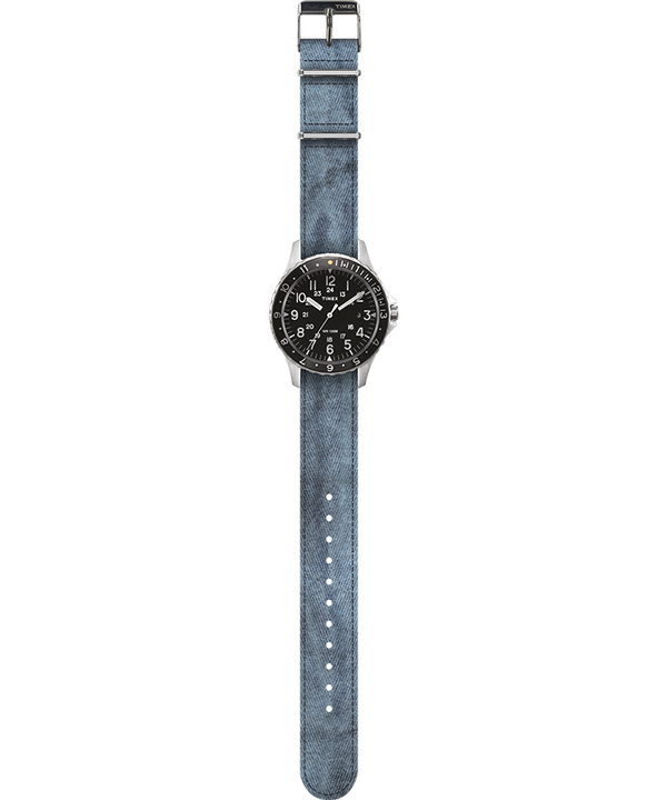 Navi Ocean 38mm Fabric Strap Watch Nero/Blu large
