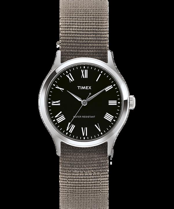 Orologio con cinturino in gros-grain reversibile Whitney Avenue 36mm Acciaio inossidabile/Nero large