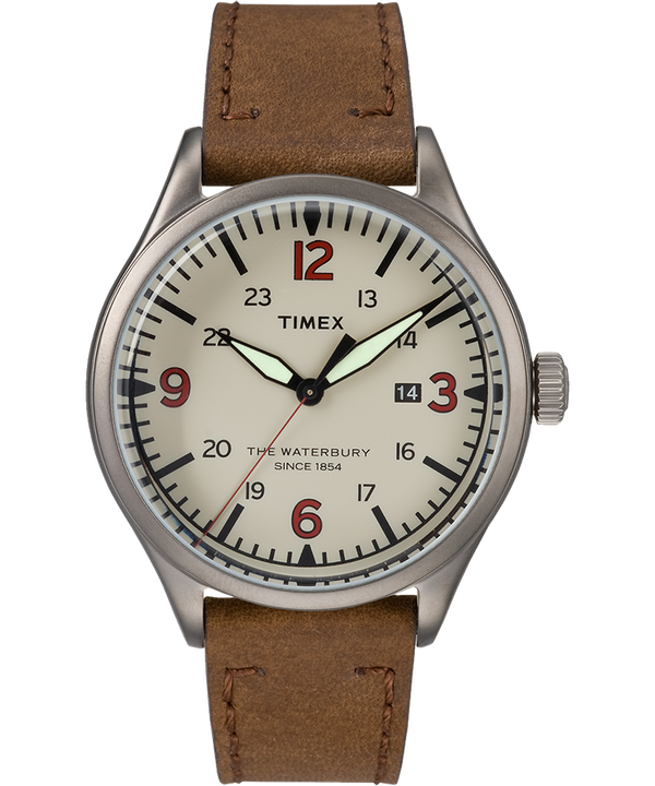 Waterbury Traditional 40mm Leather Watch  large