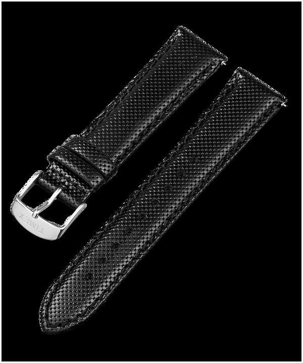 Cinturino in pelle a sgancio rapido da 20 mm Black large