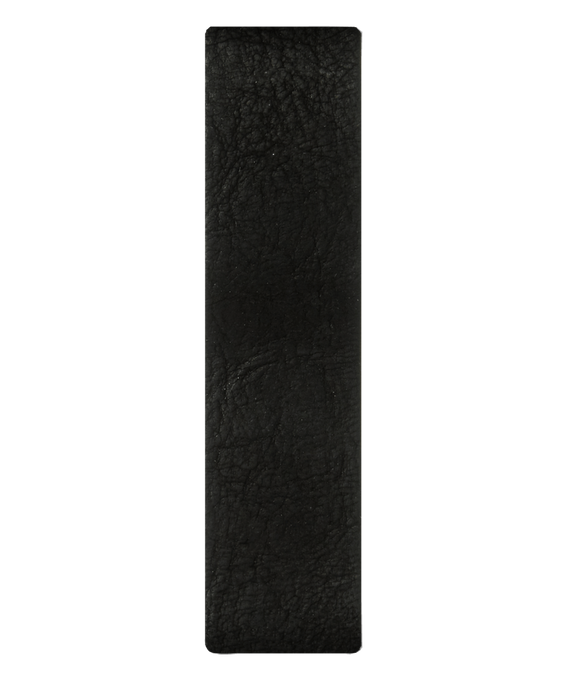 Cinturino a scorrimento in pelle nera  large
