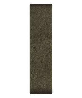 Cinturino slip-thru in pelle verde oliva  large