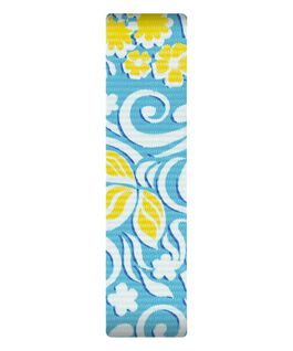 Cinturino a scorrimento in nylon fantasia blu e giallo  large