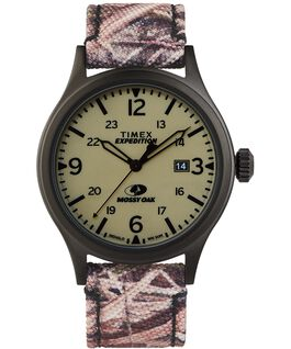 Orologio Timex x Mossy Oak Expedition Scout 40 mm con cinturino in tessuto Nero/Marrone/Verde large