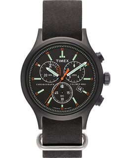 Orologio Archive Allied Chronograph da 42 mm con cinturino in pelle Nero/Nero large