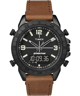 Expedition Pioneer Combo 41 mm con cinturino in pelle quick-release Nero/Marrone large