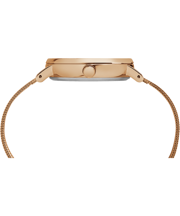 Fairfield 37 mm con bracciale in maglia mesh Rose-Gold-Tone/Natural large