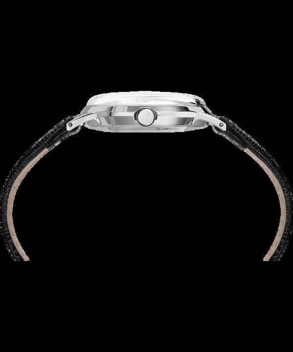 Orologio con cinturino in pelle Marlin 34 mm con carica manuale Stainless-Steel/Black/Silver-Tone large