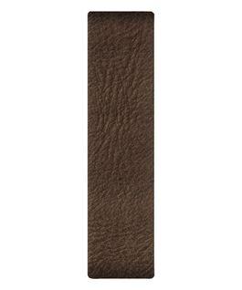 Cinturino a scorrimento in pelle marrone scuro  large