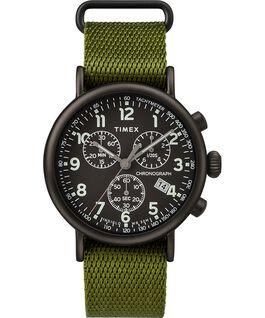 Orologio Standard Chronograph 40 mm con cinturino in tessuto Nero/Verde large