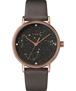 Orologio Celestial Opulence 37 mm con cinturino testurizzato Titanio/Marrone-CAPRICORNO,ACQUARIO,PESCI large
