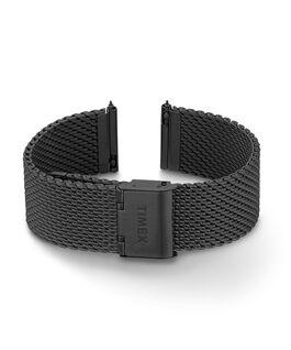 Bracciale in maglia mesh quick-release da 20 mm Nero large