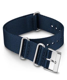 Cinturino slip-thru in tessuto tinta unita doppio strato da 20 mm Blu large