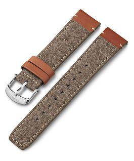 Cinturino in pelle e tessuto da 20 mm Cuoio large