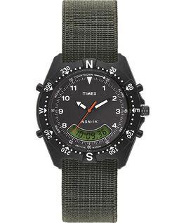 Orologio con cinturino elastico NSN-1K 39mm Nero/Verde large