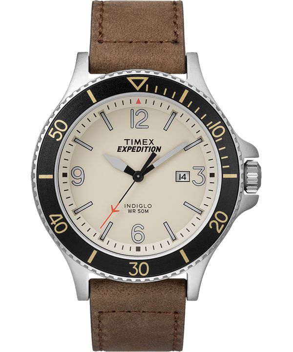 Expedition Ranger 43mm Leather Watch  large