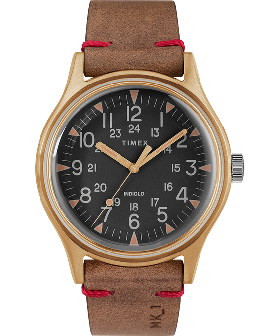 MK1 Steel 40 mm con cinturino in pelle  Color bronzo/Marrone/Nero large