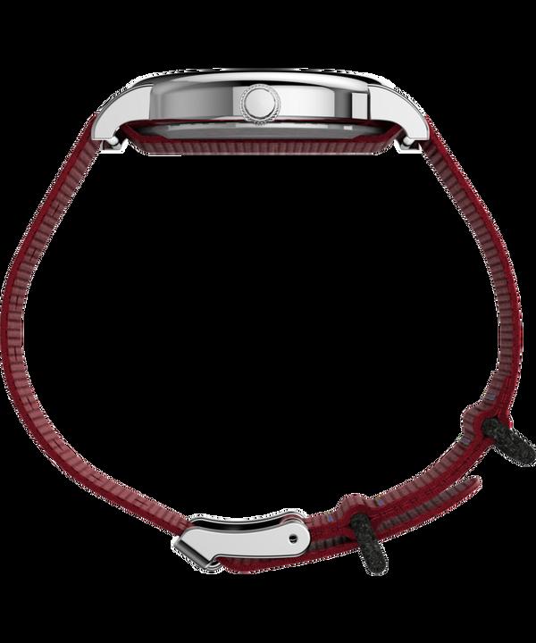 Timex x Peanuts - Orologio con cinturino in nylon Snoopy 38 mm Silver-Tone/Red/White large