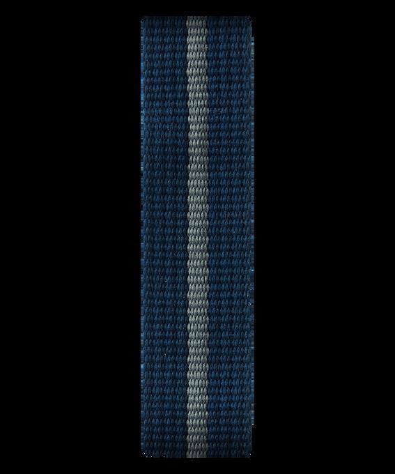 Cinturino a scorrimento in nylon blu/grigio  large