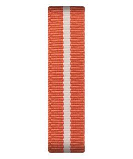 Cinturino a scorrimento in nylon arancione e bianco  large