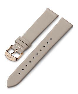 Cinturino in pelle da 20 mm con fibbia tonalità oro rosa Grigio large