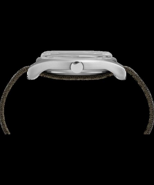 MK1 Aluminum 40 mm con cinturino in tessuto riflettente  Silver-Tone/Green large