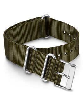 Cinturino slip-thru in tessuto tinta unita doppio strato da 20 mm Verde large