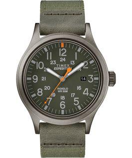 Scout 40 mm con cinturino in tessuto Grigio/Verde large
