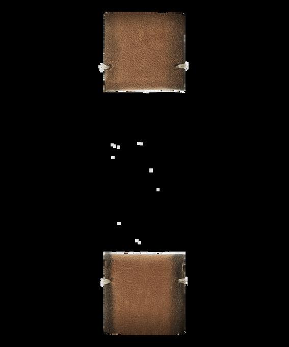 Cinturino in pelle miele  large